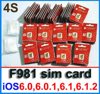 Wholesale F981 ORIGINAL GEVEY ULTRA S Unlock sim card for iphone s ios6 and reset card