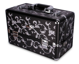 Wholesale Professional Beauty Portable Black Cosmetic Case BF B