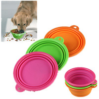 Wholesale 144 New Folding Collapsible Bowl Travel Feeding Bowl for Dogs Foldable Camping Bowl