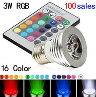 Wholesale Factory E27 GU10 E14 MR16 RGB LED light Controller Color RGB LED Bulb LED Lighting LED Spotlight