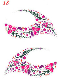 Wholesale 18 pairs colors eye liner sticker eye liner sticker temporary tattoo mix color shadow stickers