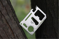 Multi Tools Pocket, Multi Tools Camping Knife 11 in 1 card knife multi-purpose tool card life-saving card Emergency Survival Card outdoor knife