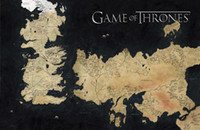 Wholesale Game of Thrones Map Large Silk Poster