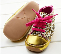 Wholesale Golden baby leopard grain rubber soled shoes baby shoes toddler children s outfit years old P