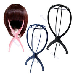 Wholesale New Folding Plastic Stable Durable Wig Hair Hat Cap Holder Stand Display Tool