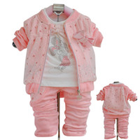 Wholesale Girls Spring Clothing Set Minnie Mouse piece Set Sweety Lace Bowknot Cotton Casual Set