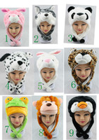 Wholesale animal hat tiger hat cartoon fluffy hat multiple designs wolf hat frog hat winter hat