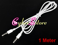 Wholesale 200pcs M mm to mm Car Aux Audio Cable for MP3 for apple mobile phone MP3