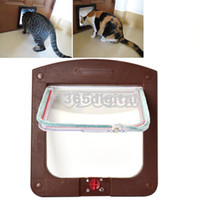 Wholesale Pet Cat Kitty Small Dog Doggy Flap Safe Door Tunnel Colors Way Locking