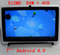 White 7 inch 16: 9 wide TFT LED screen Android 4. 0 system Tou...