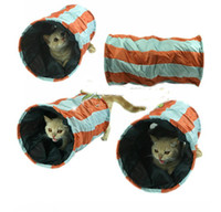 Wholesale New Nylon collapsible mini the cat channel cat toys