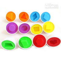 Wholesale 6x Shape Wise Pretend Puzzle Smart Eggs Baby Kid Learning Kitchen Toys Tool Gift