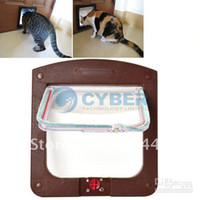 Wholesale Hot Sale Puppy dom and Cat Door Small Dog Door Way Flap Safe Pet Supplies Colors