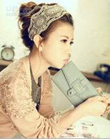 Wholesale Freeshipping Wide Lace Elastic Hairband Embroidery Kniting Headband
