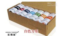 Wholesale 5 boxes cotton socks men weekly socks pairs box colours gift