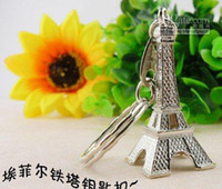 Wholesale Tower French france souvenir paris KeyChain Ring keyring keyfob cute Adornment slivery golden bronze