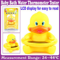 Wholesale Cute Little Bear Baby Bath Water Thermometer Tester_LCD display for easy to read_
