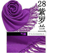 Wholesale Pashmina Scarves Cashmere scarf purple carves Wrap Factory sale Pashmina HLL253G