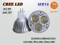Wholesale High quality Led bulb CREE W V MR16 GU5 GU10 E14 E27 Led Light Lamp Spotlight X200 by FEDEX