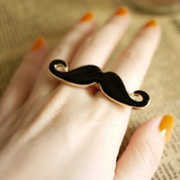 Cluster Rings beard rings - Fashion Unique Classic Avanti beard two fingers ring