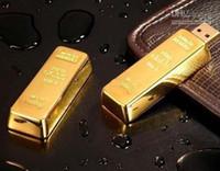 Wholesale Hot DHL freeshipping GB Gold Bar USB Flash Drive disk memory stick Pendrives thumbdrives X5