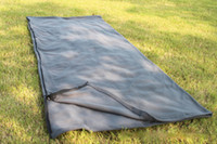 Wholesale Outdoor Envelope Sleeping Bags Polyester Fibre Polar Fleece Siesta Dark Gray Adult Sleeping Bag