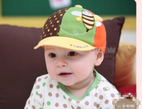 Wholesale 2013 Baby Bee Style Yellow Cotton Hat Baby Baseball Cap Male and Female Baby Caps Baby Hats