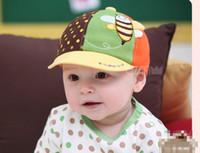 yellow baseball hat - 2013 Baby Bee Style Yellow Cotton Hat Baby Baseball Cap Male and Female Baby Caps Baby Hats