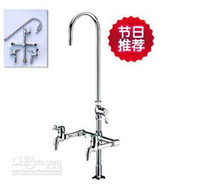 Wholesale All copper Assay triple Laboratory faucet Test water mouth Wrench type vertical Classical style taps