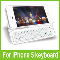 Wholesale Wireless Bluetooth Side Out Keyboard Case Cover Protector Sliding Cell Phone Keyboards for iPhone G Free DHL Shipping
