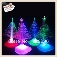 Wholesale The Christmas decoration cute and compact fiber optic tree For Party amp Festival Decorations
