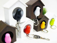 Wholesale Hot Selling Bird House Shape Keyring Key Holder Key Chain With Whistle