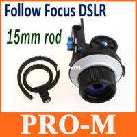 Wholesale Pro Follow Focus DSLR mm Rod for Nikon D90 Canon D D MKII Drop Shipping