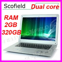 Wholesale Free By DHL inch Dual Core Win RAM GB GB ROM Laptop Intel Atom D2500 Win7 Windows Notebook