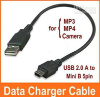 Wholesale USB A to Mini B pin Male Data Charger Cable for MP3 MP4 GPS Camera
