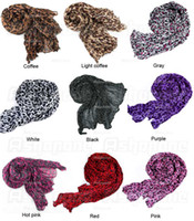 Wholesale 10 Lady Soft Leopard Print Crinkle Shawl Scarf Long Stole