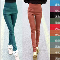 Wholesale Tall waist pencil pants Woman Lady Leggings trousers Sexy Slim W3004