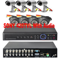 Wholesale 8 CH CCTV Audio cameras H Net TB DVR Home security system