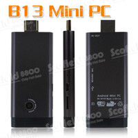 Wholesale Mini PC TV Dongle RK3066 G G WiFi Bluetooth build in webcam with AV port B13 WIFI Annta