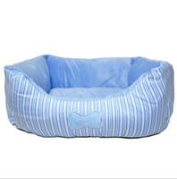 Wholesale Chromatic stripe bones small dog kennel cat dog bed