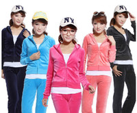 Wholesale NWT womens Spring Velour Hoodie Pants Tracksuit