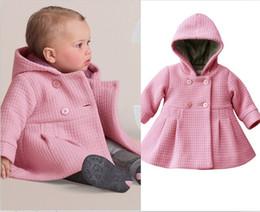 Wholesale Fashion Girls Baby Hooded Winter Coats New Children Overcoat Baby Hooded Sweatercoats Girls Windbreakers