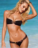 Women Bikinis Pure Colour 2013 NEW Hot Women Bikini Swimwear & Beachwear Sexy women's Swimwear black G8879