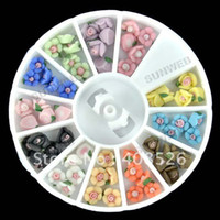 ceramic flowers - 12 Colors Ceramic Flower For Nail Art Tips Decorations