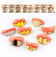Wholesale Style false teeth set shock toys ktv halloween props false teeth Easter Xmas fools Day Gift