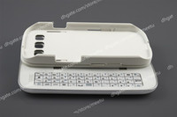 Wholesale For Samsung Galaxy S3 i9300 Bluetooth Sliding Wireless Keyboard Hardshell Case Cover White
