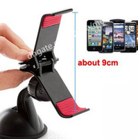 Cheap New Universal Windshield Car Mount Bracket Holder Cupule Black for iPhone 6 5 5S 5C Sumsang Smart Phone PDS GPS Camera Recoder Free Shipping