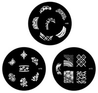 Wholesale Mix Nail Art Stamping Metal Plates Image Template x6cm low price topwin