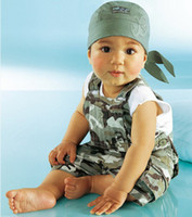 Christmas camouflage tank top - infant clothes baby wear camouflage straps pieces suit children Tank Tops summer wear apparel