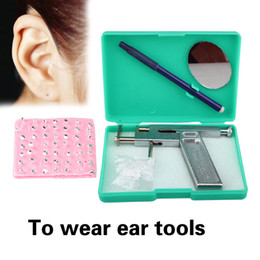 Wholesale 100 sets Professional Ear Body Pierce Gun Beauty Tool and free Silver Tone Studs